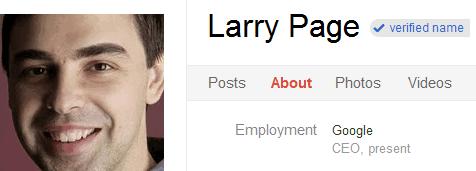google+ verfied profiles
