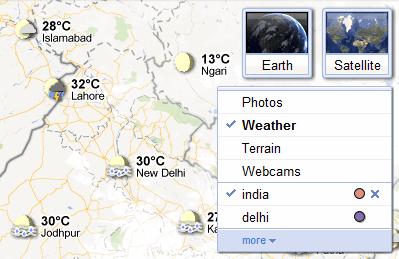 Google weather forecast