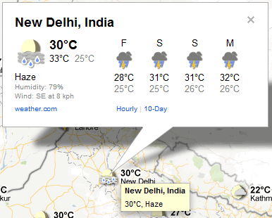 google city weather