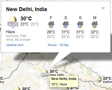 google city weather