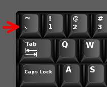 grave accent key