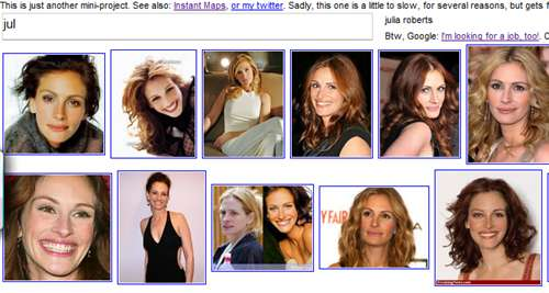 Google image instant search