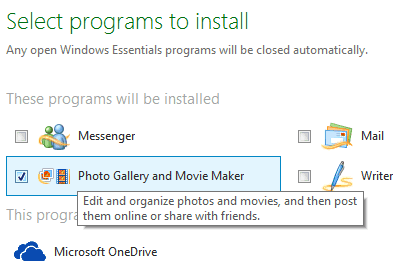 install movie maker