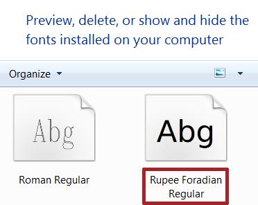 install rupee font