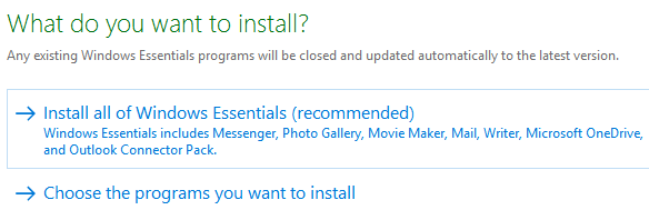 install windows essentials