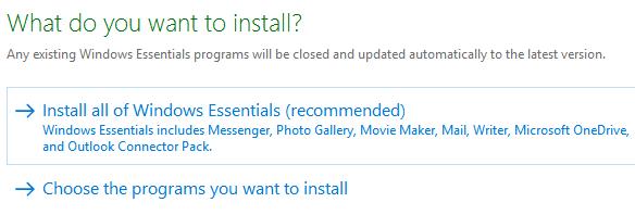 install windows essentials