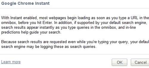 Activate instant pages