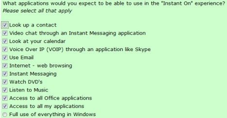 Windows Instant On Survey