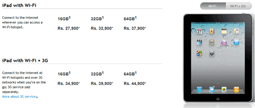 ipad india prices