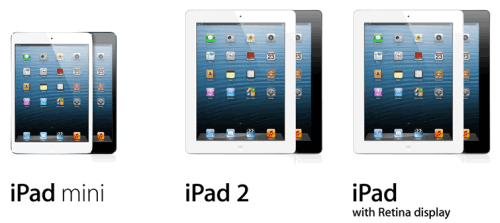 IPad Mini range