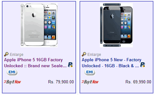 iphone 5 on ebay