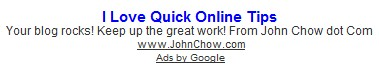 John Chow ads