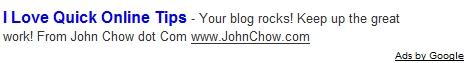Jon Chow loves QOT