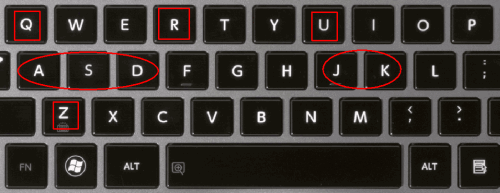 keyboard shortcuts