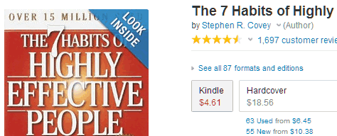 kindle book price