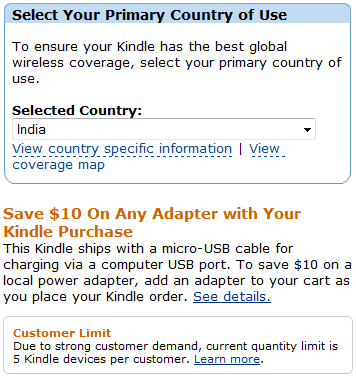 kindle india adaptor