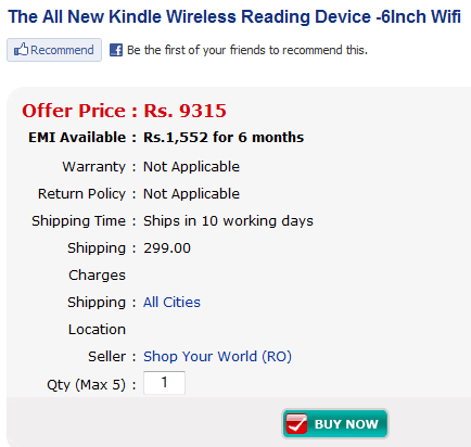 kindle india shop