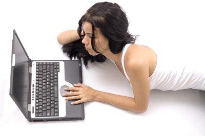 Laptop Girl Blogging