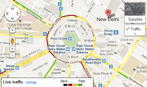 See Live Traffic Status On Google Maps In India Quickonlinetips