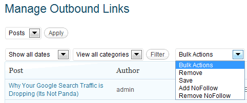 manage links