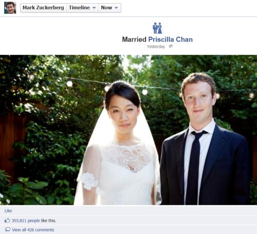 mark zuckerburg-marries priscilla chan