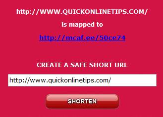 mcafee-short url