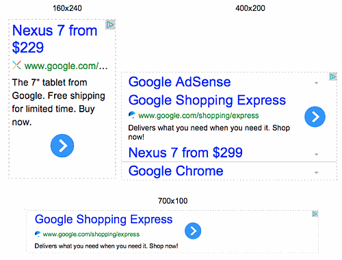 new adsense sizes