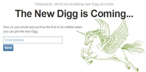 Digg closes registrations