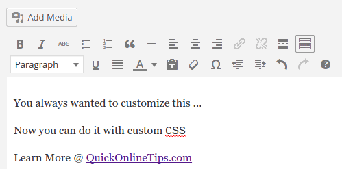 no editor styles