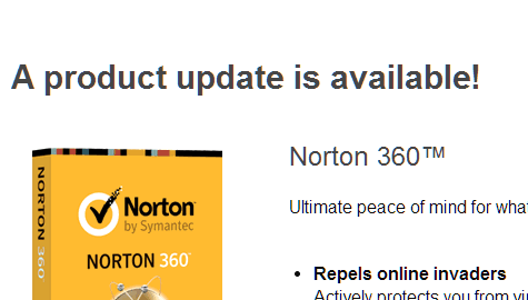 norton product update