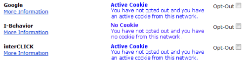 Opt Out Cookies