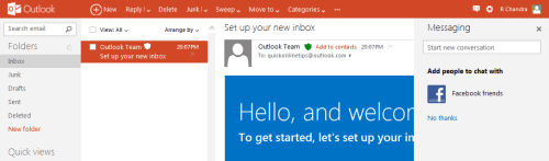 Outlook layout