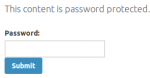 password protected pages