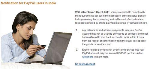paypal india block