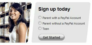 how to open a paypal account for teen