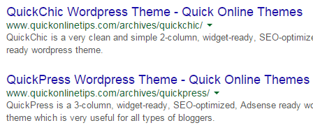 persisting theme links