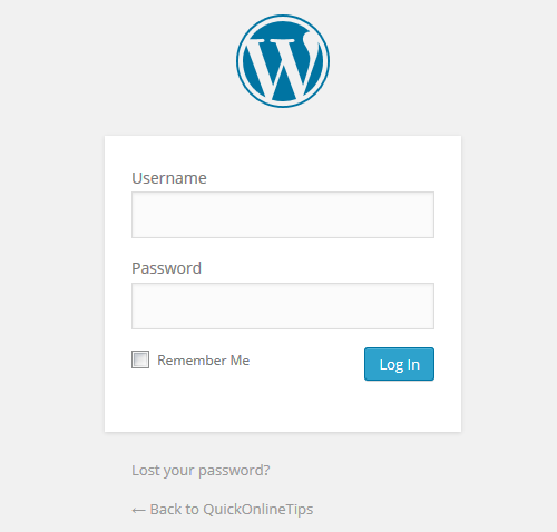 Old WordPress Login