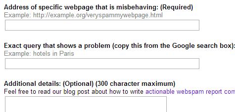 report webspam