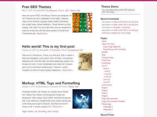 QuickChic wordpress theme
