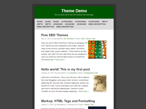 QuickPic wordpress theme