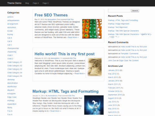 QuickStrap WordPress Theme