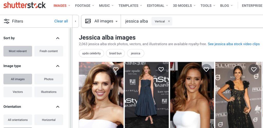 shuttestock image search