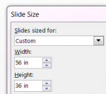 slide size inches