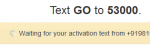 text activation
