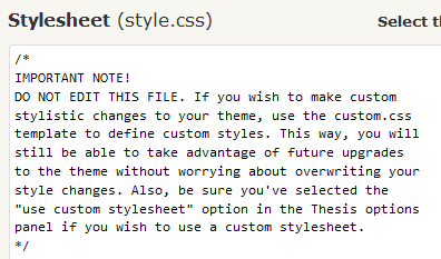 Thesis custom styles