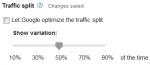traffic split