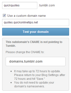 tumblr domain cname