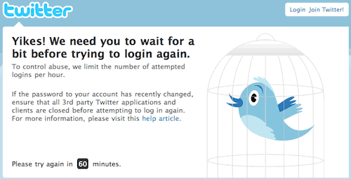 Twitter Locked Out