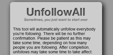Unfollow All Twitter users