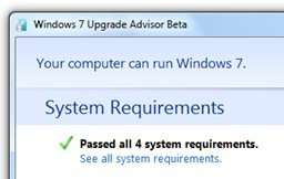 Windows7 upgrade advisor